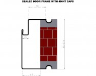 SEALED DOOR FRAME WITH JOINT GAPS
